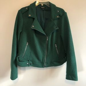 Torrid Cloth Motorcycle Style Jacket